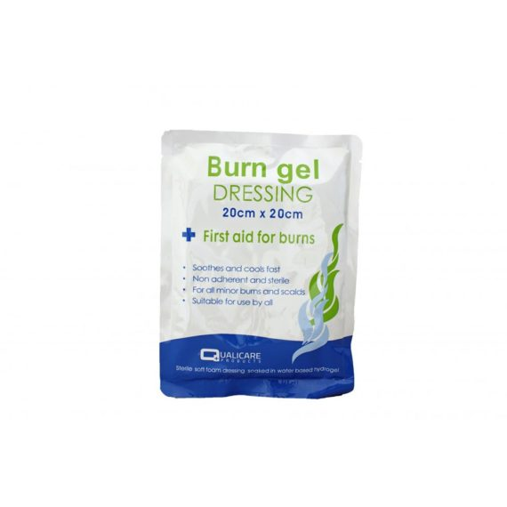 non adherent and sterile Burn gel 20cm x 20cm Dressing